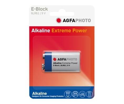 Pila Alcalina 9V Agfaphoto (6LR61)