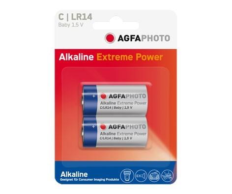 Pilas Alcalinas C Agfaphoto pack 2uds (LR14)
