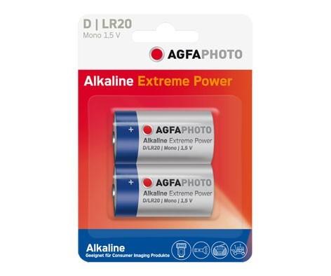Pilas Alcalinas D Agfaphoto pack 2uds (LR20)