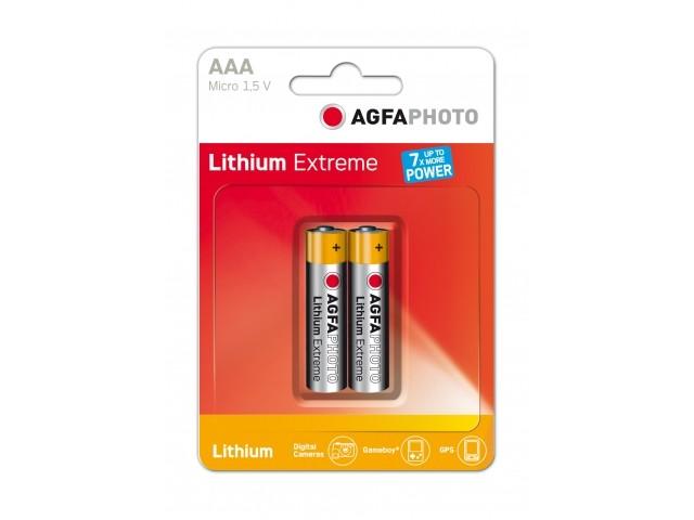Pilas de Litio AAA Agfaphoto pack 2uds (FR03)