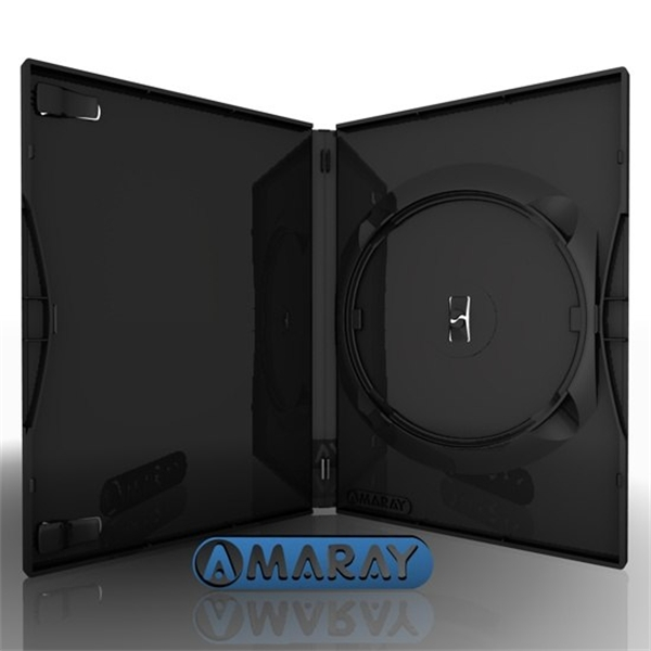 Caja DVD Estandar 14mm Amaray Negra Pack 25