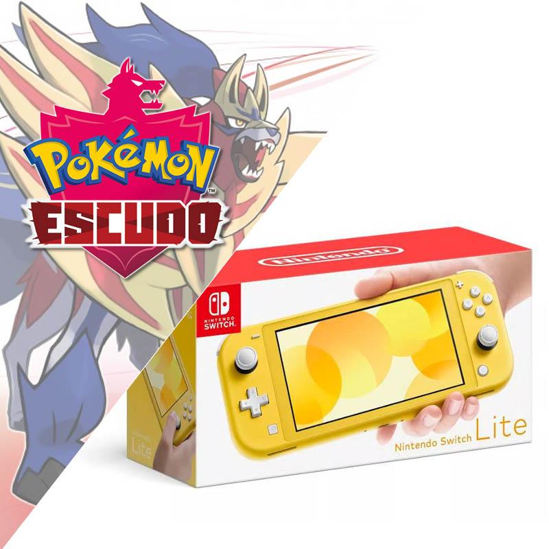 Nintendo Switch Lite Amarillo + Pokemon Escudo