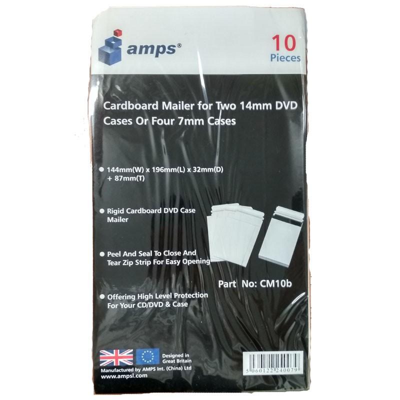 Sobre Rigido Envio para 2 Cajas DVD 14mm 10 uds