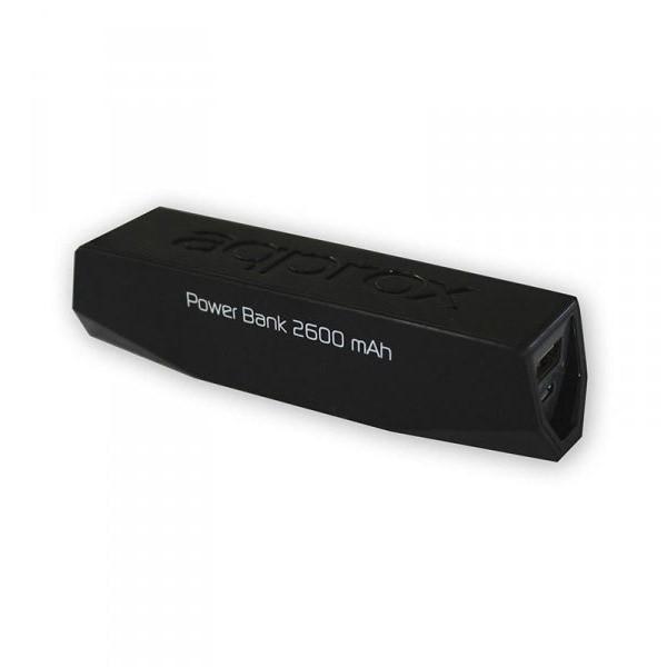 Batería Universal Portable Power Bank Approx 2600 mAh Negra