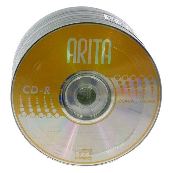 CD-R 52x 700MB ARITA Gold Bobina 50 uds