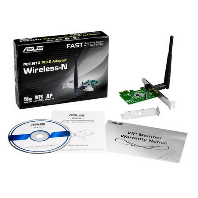 Tarjeta de Red Wireless Asus PCE-N10 150Mbps