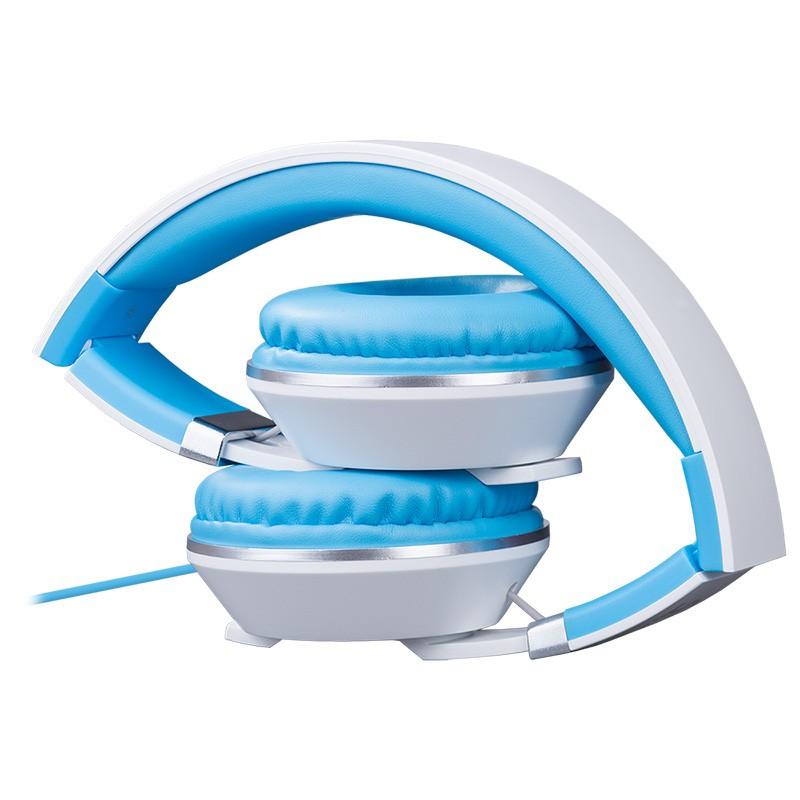 Auriculares con Micrófono Hiditec Cool Kids Azul Claro