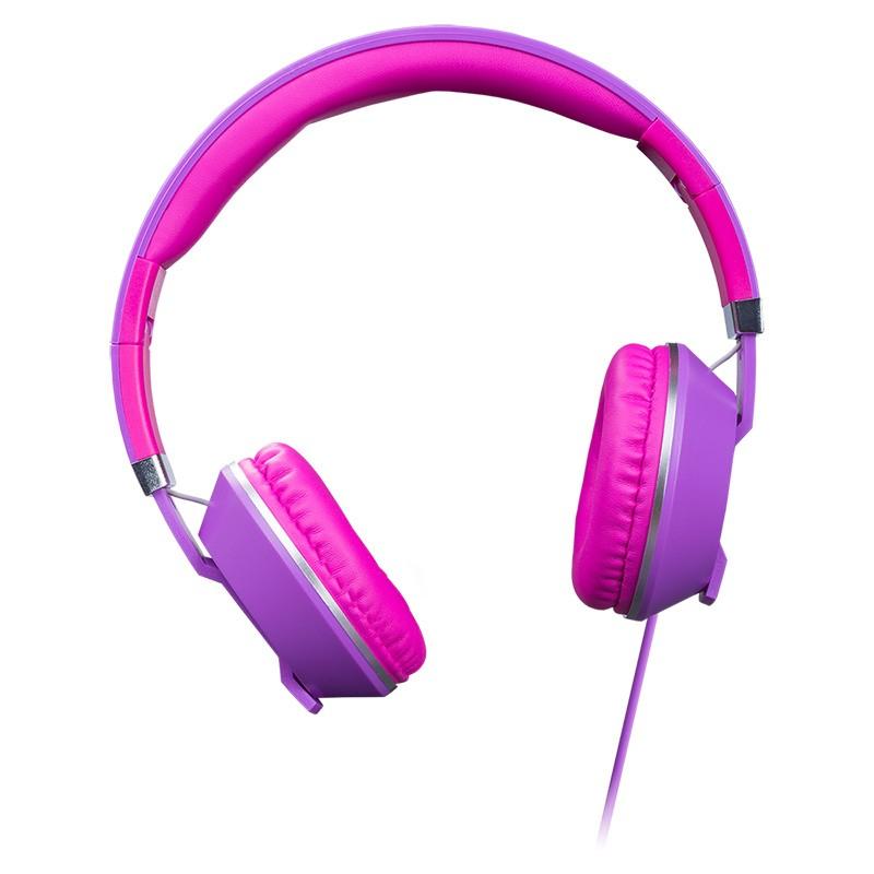 Auriculares con Micrófono Hiditec Cool Kids Púrpura