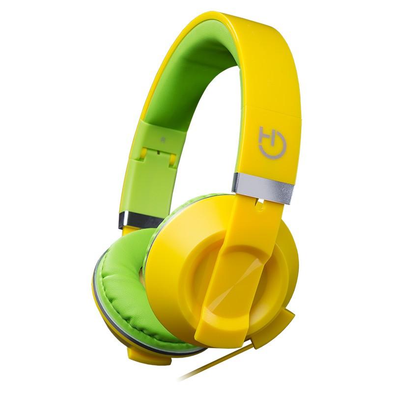 Auriculares con Micrófono Hiditec Cool Kids Amarillo