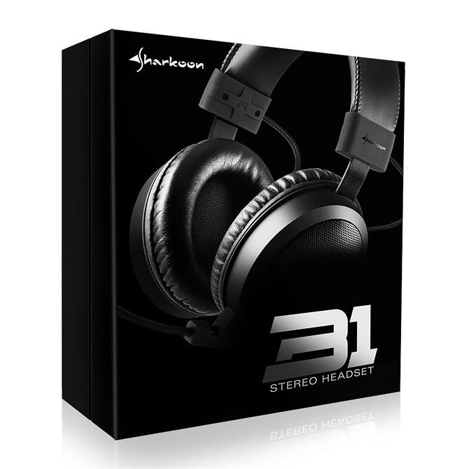 Auriculares con Micrófono Sharkoon B1 Binaurale Diadema Negro