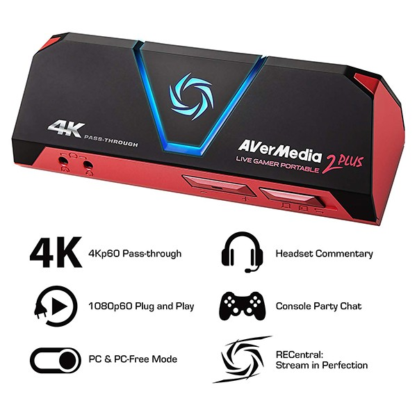 Capturadora de Vídeo AVerMedia Live Gamer Portable 2 PLUS