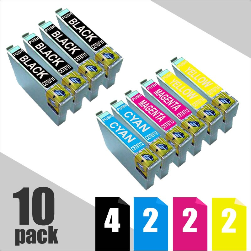 Pack Ahorro T071x / T089x  10 Uds Tinta Compatible Premium