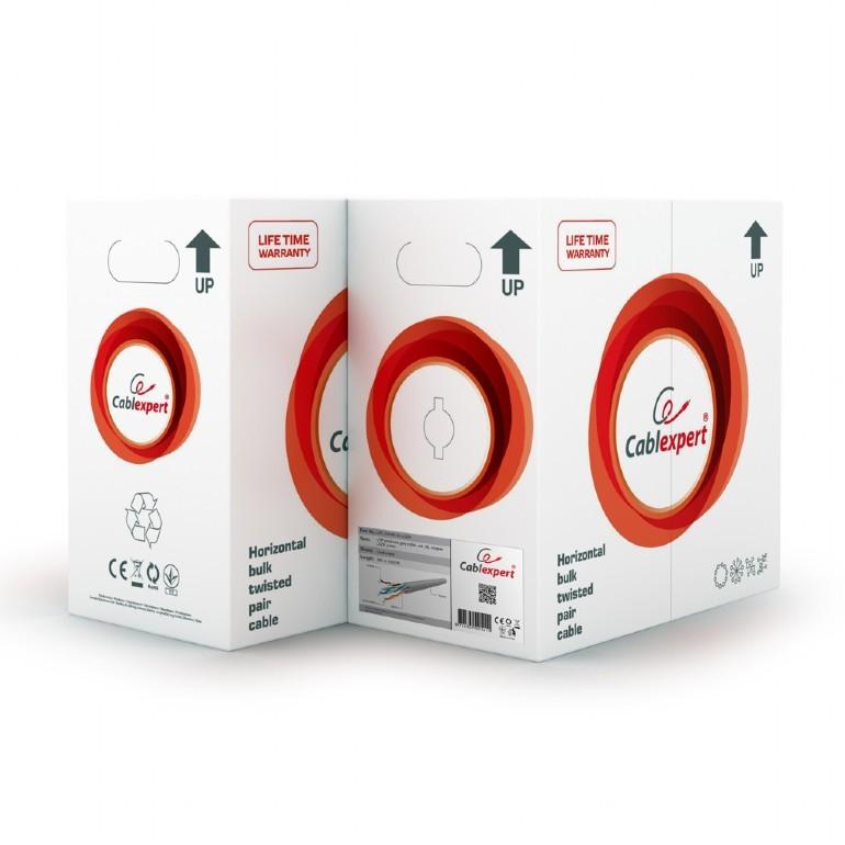 Cable de red cat5e utp gembird upc-5004e-so 304.8m gris