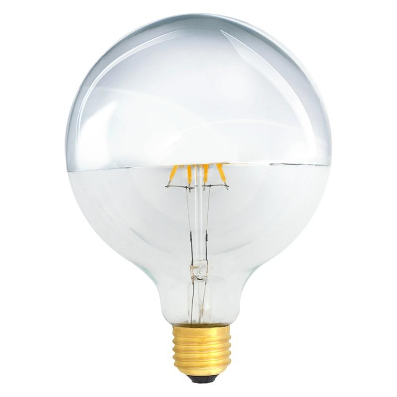 Bombilla Filamento LED E27 4W 2700K 420lm G125 Decorativa