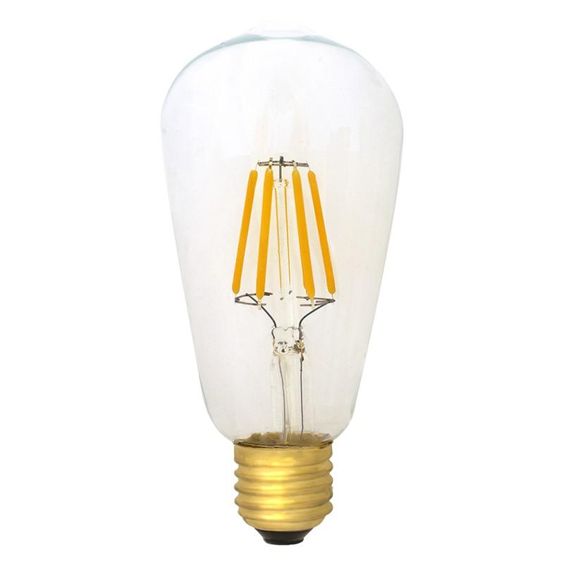 Bombilla Filamento LED E27 6W 2400K 600lm ST64 Edison