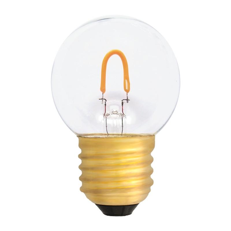 Bombilla Filamento LED E27 0.6W 2400K 50lm G45