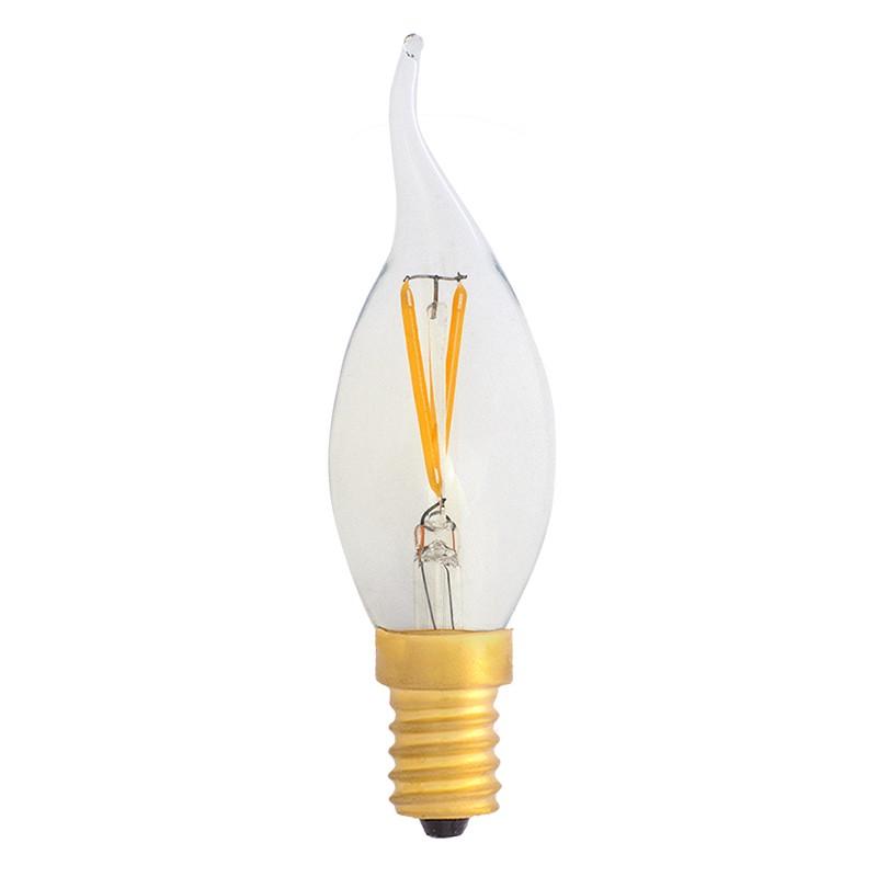 Bombilla Filamento LED E14 2W 2700K 220lm C35 Llama