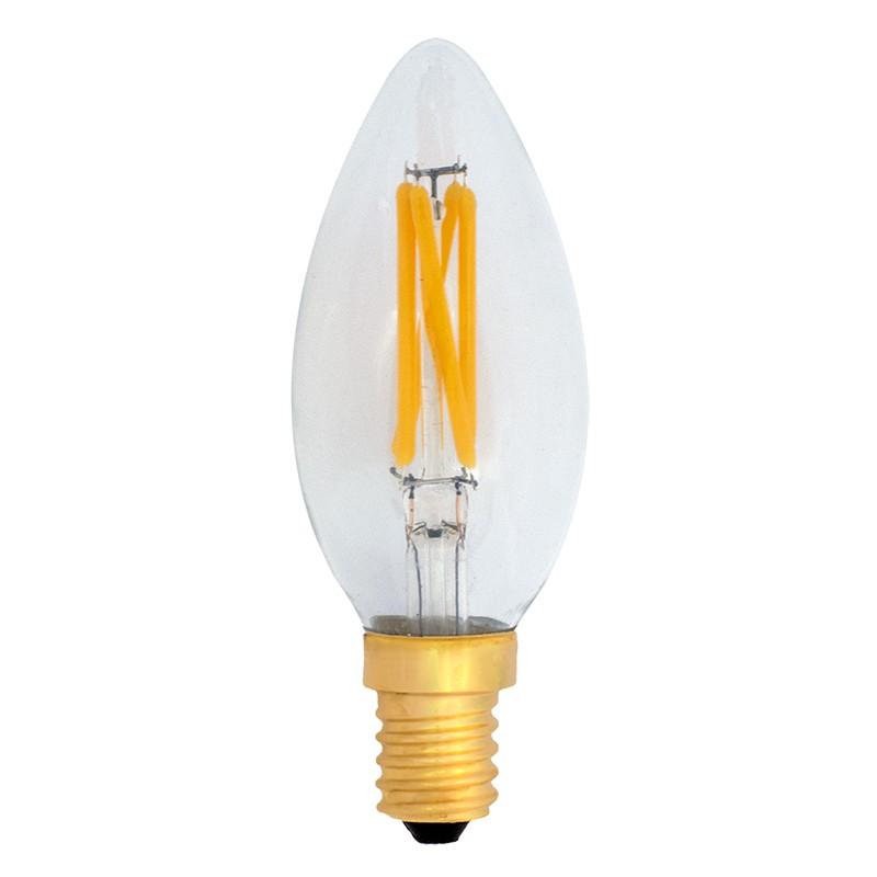 Bombilla Filamento LED E14 4W 2700K 380lm C35