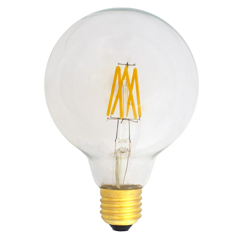 Bombilla Filamento LED E27 6W 2700K 600lm G95 Globo