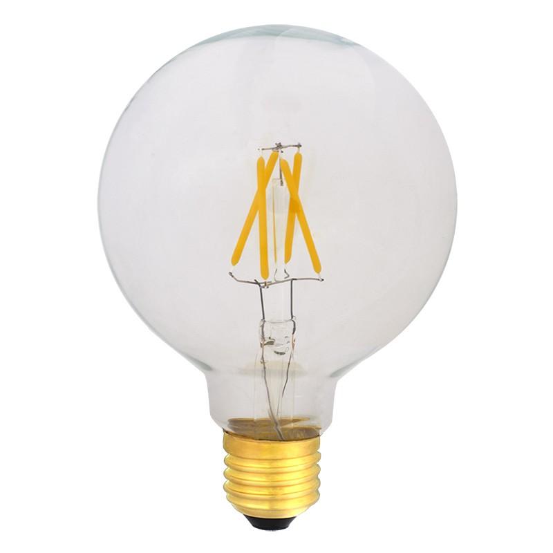 Bombilla Filamento LED E27 4W 2700K 420lm G95 Globo