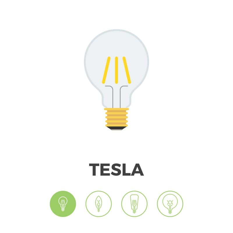 Bombilla Filamento LED E27 4W 2700K 420lm A19