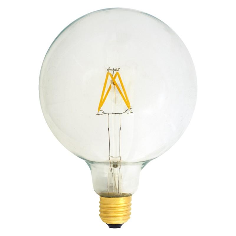 Bombilla Filamento LED E27 4W 2700K 420lm G125 Globo
