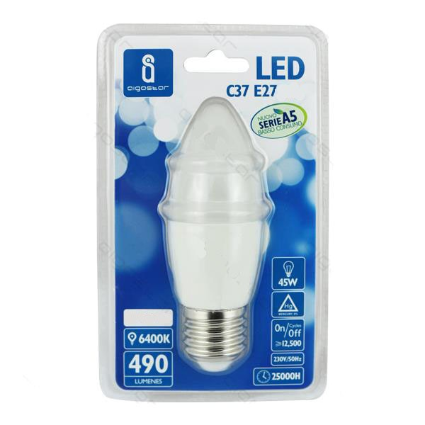 Bombilla LED 9W 6400K 720lm E14 A5 C37
