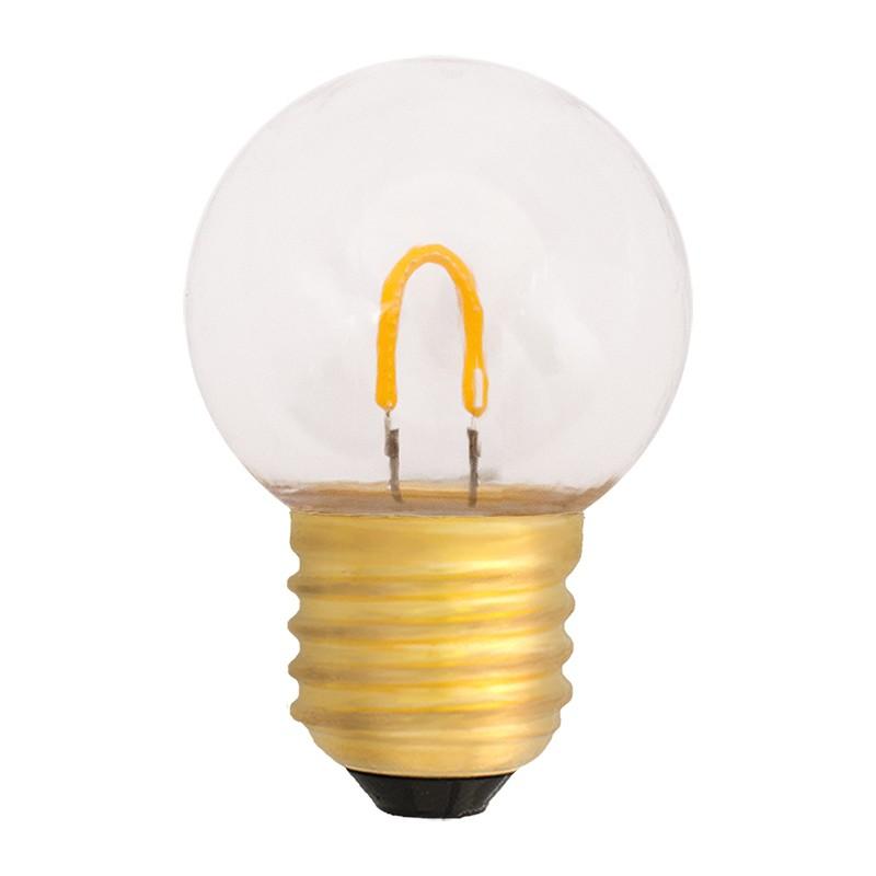 Bombilla Filamento LED E27 0.6W 2400K 50lm G45 Exterior