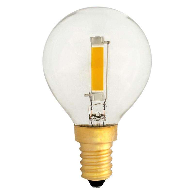 Bombilla Filamento LED E14 1.2W 2700K 100lm G45