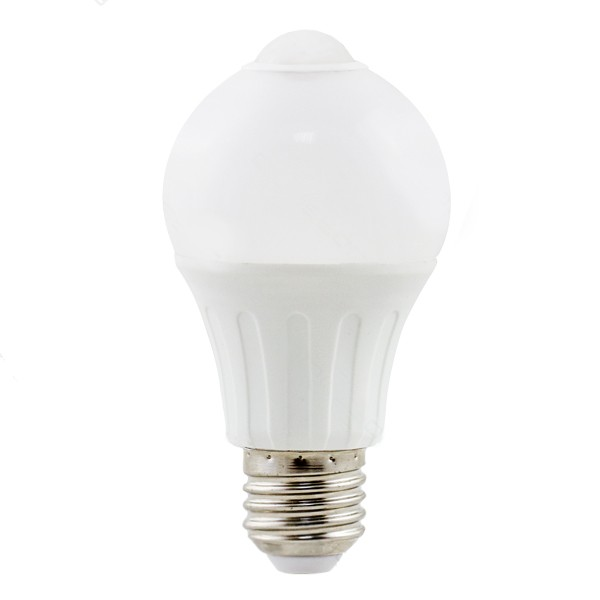 Bombilla LED Bajo Consumo 6W 3000K E27 A5S A60 con sensor