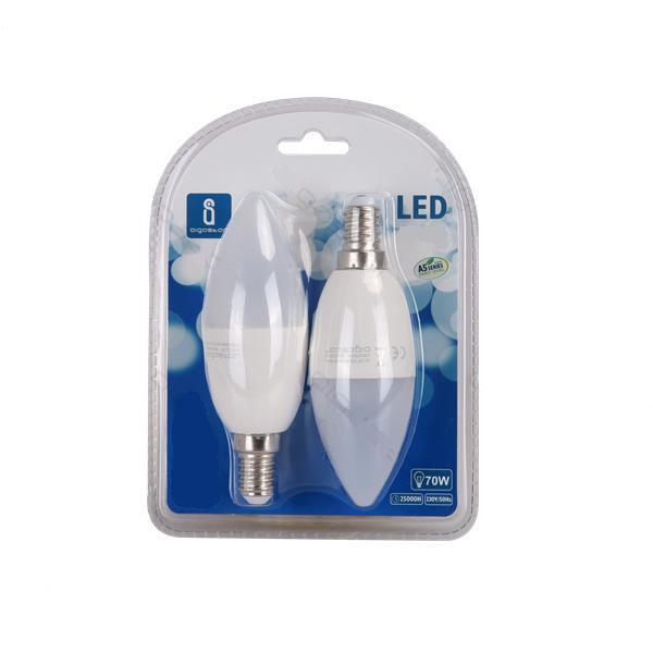 Bombilla LED 9W 6400K 720lm E14 A5 C37 2pcs