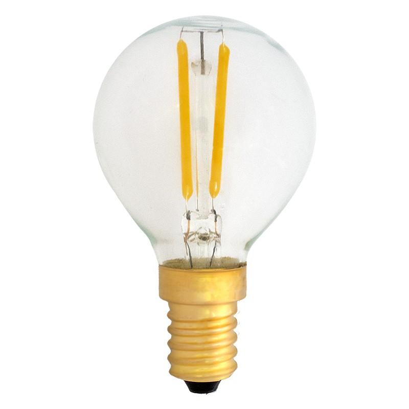 Bombilla Filamento LED E14 2W 2400K 220lm G45