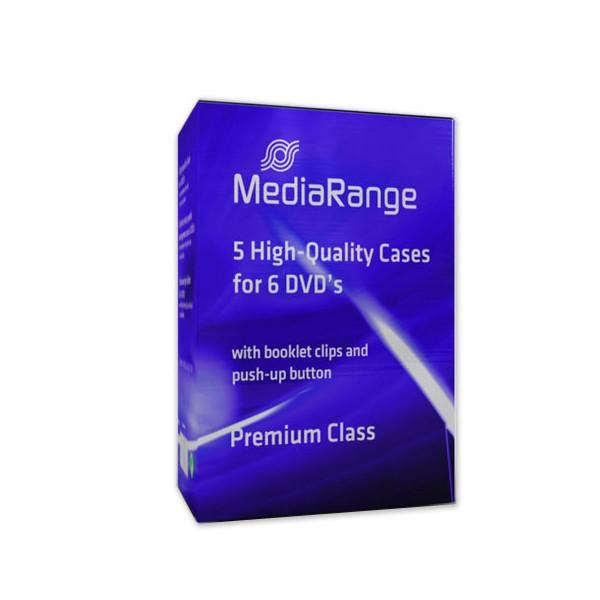 MediaRange Caja DVD p/6 discos Pack 5 uds