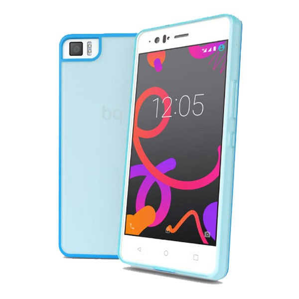 BQ Funda Flexible Gummy M4.5 para Aquaris M4.5 Azul
