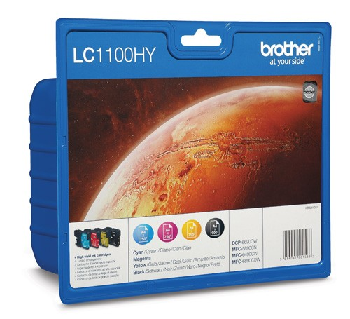 Brother LC1100HY Pack Cartuchos Tinta Original XL (N+M+C+A)