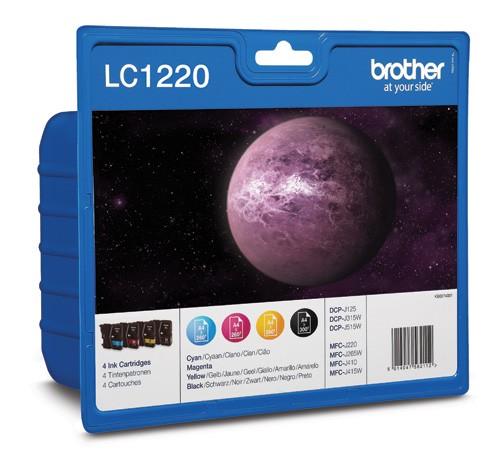 Brother LC1220 Cartucho Tinta Original Negro / Color