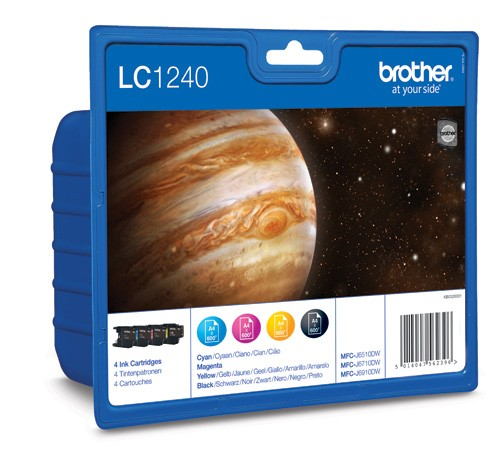 Brother LC1240 Pack Cartuchos Tinta Original (N+C+M+A)