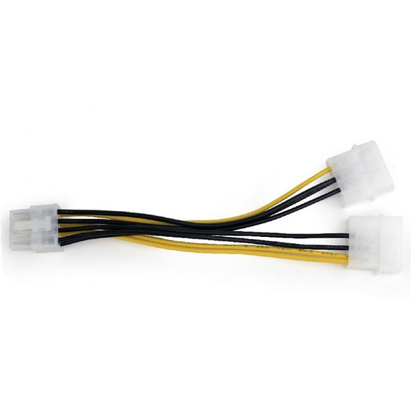Cable adaptador 2 Molex a 8 pin PCI Gembird CC-PSU-81 15cm