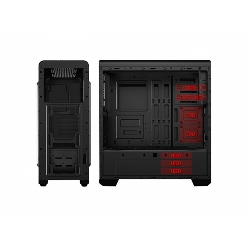 Caja PC ATX 3GO Hologram Gaming Ventana Metacrilato -error