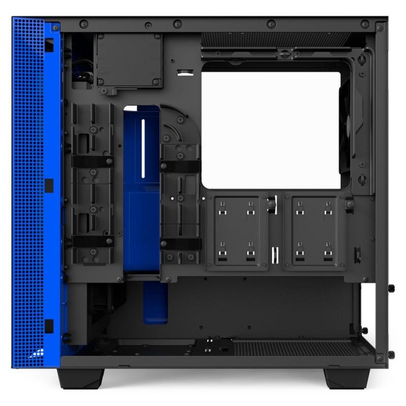 Caja PC Micro ATX NZXT H400i Smart Negra/Azul