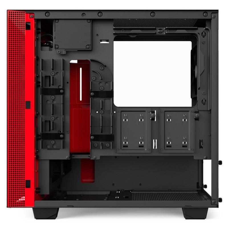 Caja PC Micro ATX NZXT H400i Smart Negra/Roja