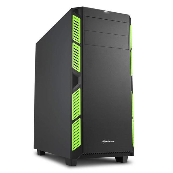 Caja pc atx sharkoon ai7000 silent verde