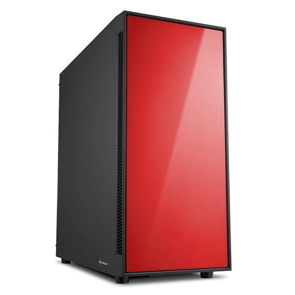 Caja pc atx sharkoon am5 silent roja