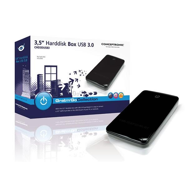 Caja externa Conceptronic USB 3.0 para HDD 3.5