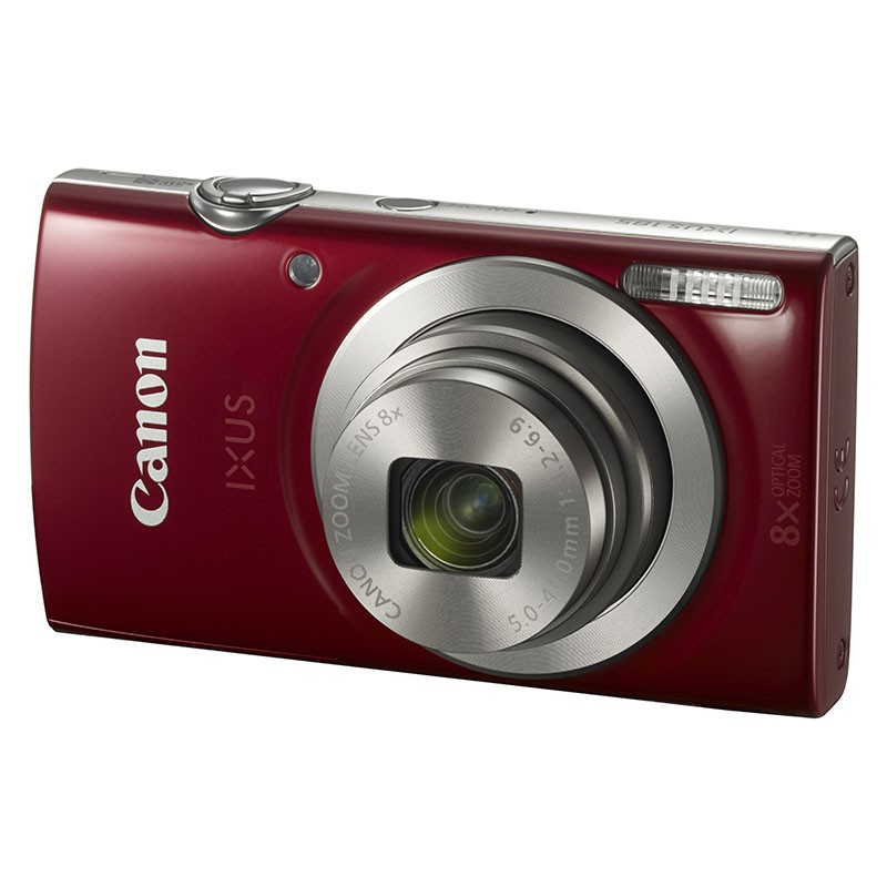 Cámara Digital Canon Ixux 185 20Mpx ZOOM 16X ZO 8X Roja