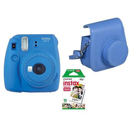 Cámara Fujifilm Instax Mini 9 Azul + Funda + Carga