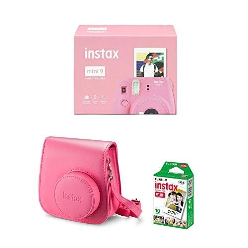 Cámara Fujifilm Instax Mini 9 Rosa + Funda + Carga