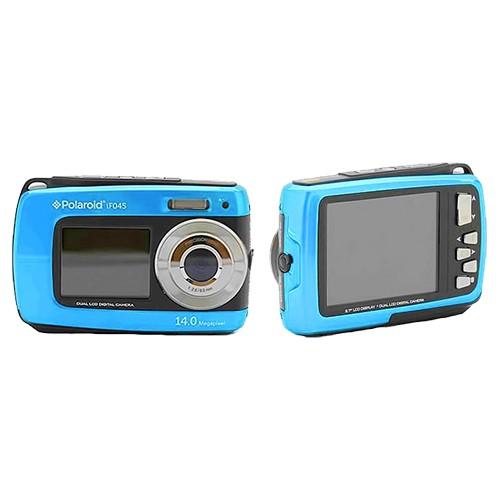 Cámara Digital Polaroid IF045 14Mpx Doble Pantalla Sumergible Azul