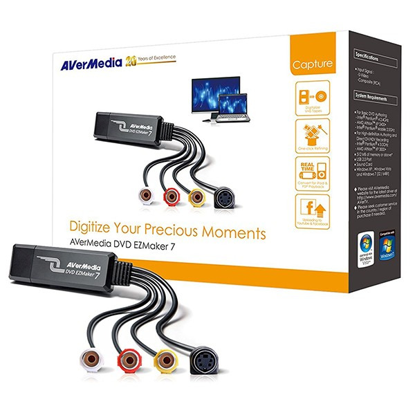 Capturadora de Vídeo USB AVerMedia DVD EZMaker 7