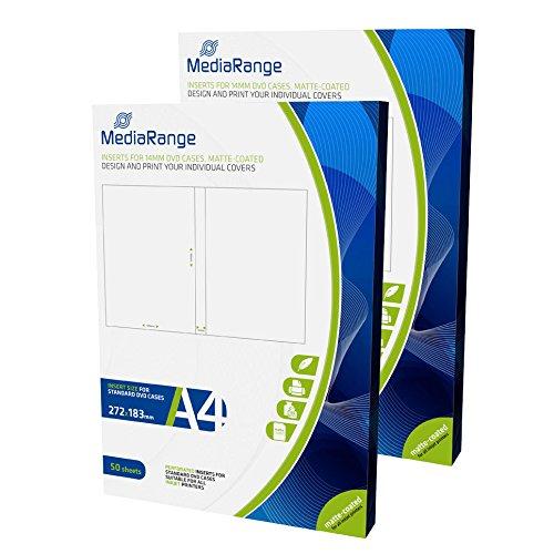 MediaRange Caratula para Cajas DVD Estandar 14mm 50 uds A4